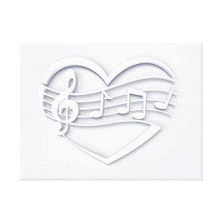 Impressão Em Tela Coração musical