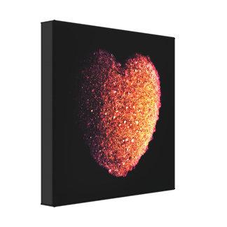Impressão Em Tela coração precioso do fogo