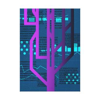 Impressão Em Tela Corte do Cyberpunk
