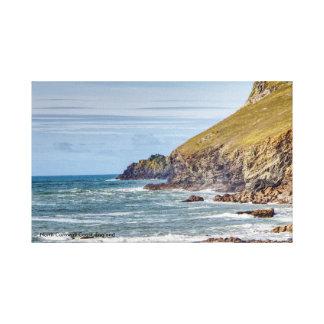 Impressão Em Tela Costa norte de Cornualha, Inglaterra