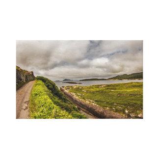 """Impressão Em Tela """"Costeie a estrada, arte da parede de Ireland"""""""