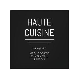 Impressão Em Tela Cozinheiro chefe francês engraçado da culinária de