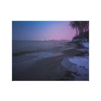 Impressão Em Tela Crepúsculo do inverno na praia
