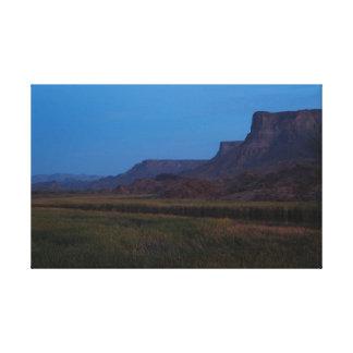 Impressão Em Tela Crepúsculo na reserva natural do rio de Bill