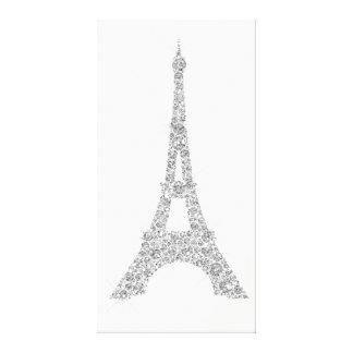 Impressão Em Tela Cristal das cinzas de prata de Paris do francês da
