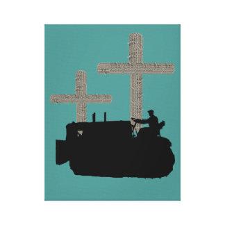 Impressão Em Tela Cruz do cristão do engenheiro do funcionamento da
