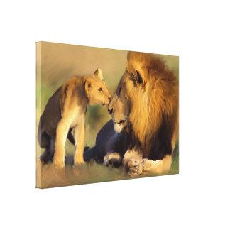 Impressão Em Tela Cub original beija o pai