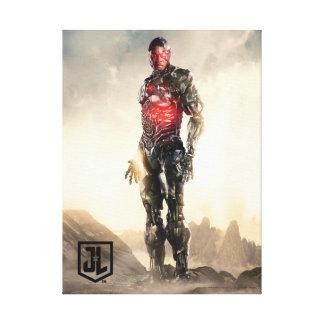 Impressão Em Tela Cyborg da liga de justiça | no campo de batalha