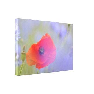 Impressão Em Tela Da flor vermelha da papoila do primavera arte