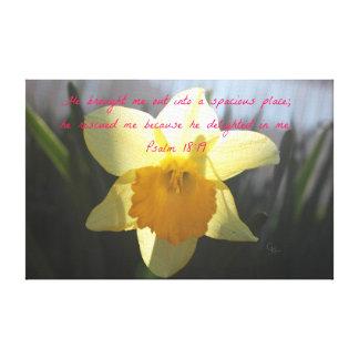 Impressão Em Tela Daffodil do amarelo do 18:19 do salmo