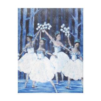 Impressão Em Tela Dança dos flocos de neve