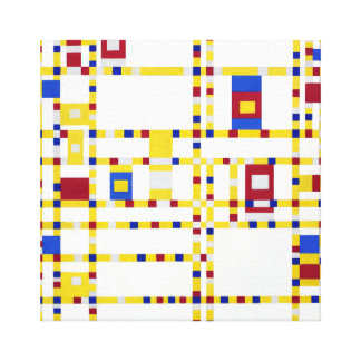 Impressão Em Tela Dança Woogie de Piet Mondrian Broadway