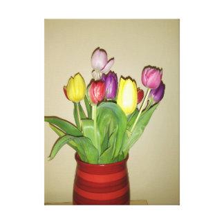 Impressão Em Tela Das tulipas vida colorida ainda