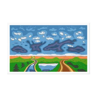 """Impressão Em Tela De """"arte de Roberto Regan das nuvens tempestade"""""""
