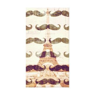 Impressão Em Tela De Paris com bigode