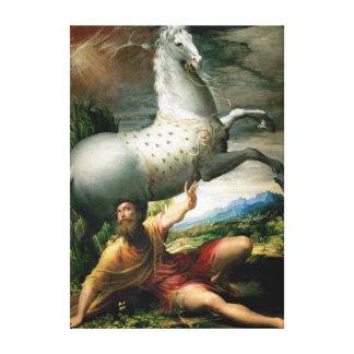 Impressão Em Tela Derramar de Parmigianino de Paul