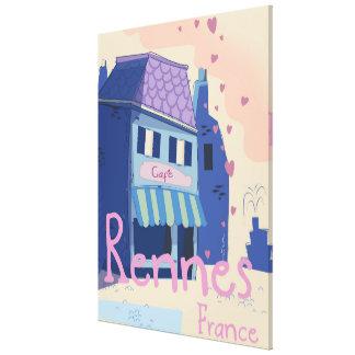 Impressão Em Tela Desenhos animados do vintage de Rennes France