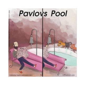 Impressão Em Tela Desenhos animados engraçados da piscina de Pavlov