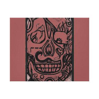 Impressão Em Tela Design #1 do crânio