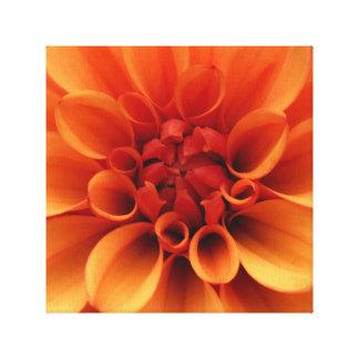 Impressão Em Tela Design alaranjado da foto da flor |