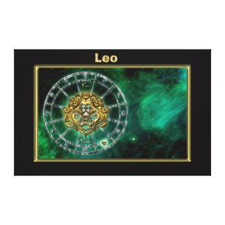 Impressão Em Tela Design da astrologia do zodíaco de Leo