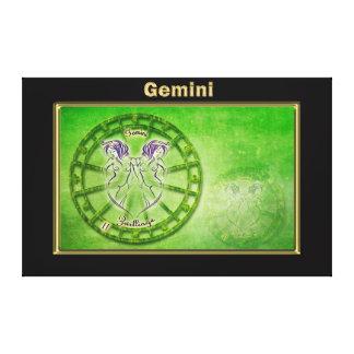 Impressão Em Tela Design da astrologia do zodíaco dos Gêmeos