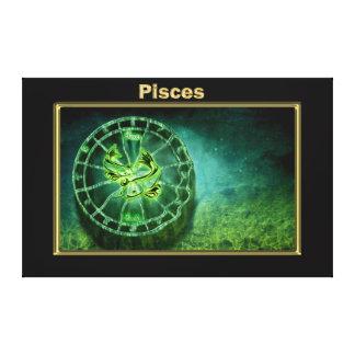 Impressão Em Tela Design da astrologia do zodíaco dos peixes