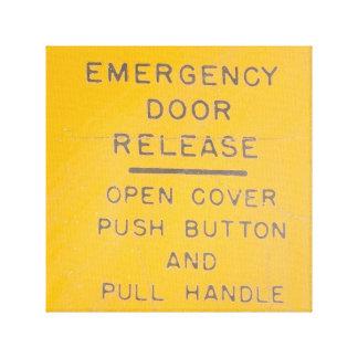 Impressão Em Tela Design da liberação da porta de emergência do