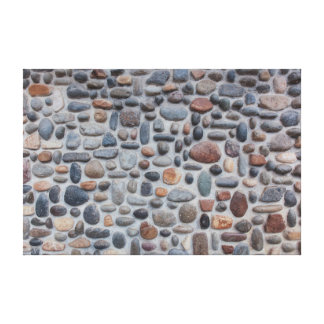 Impressão Em Tela Design da parede de pedra do seixo do mosaico