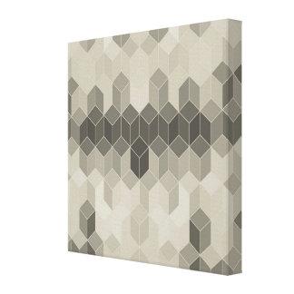 Impressão Em Tela Design geométrico do cubo da escala cinzenta
