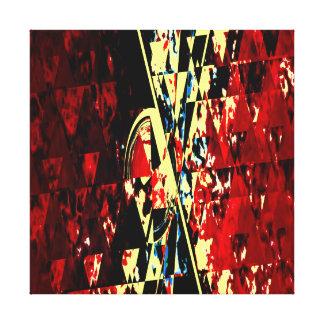 Impressão Em Tela Design moderno da arte abstracta vermelha da