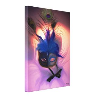 Impressão Em Tela Destaque da máscara do mascarada do pavão -