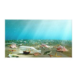 Impressão Em Tela Destruição da Navio-em-um-Garrafa
