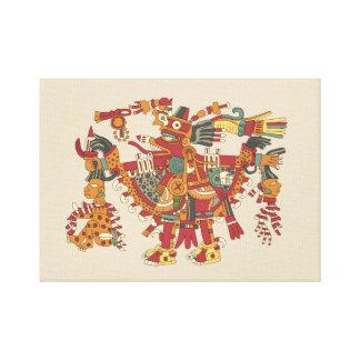 Impressão Em Tela Deus asteca