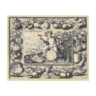 Impressão Em Tela Deus do Baco do vinho