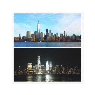 Impressão Em Tela Dia e noite de New York