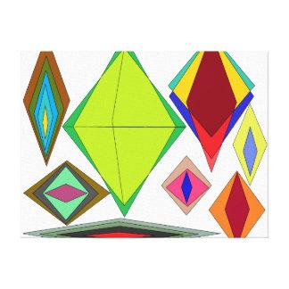 Impressão Em Tela Diamantes da ilusão