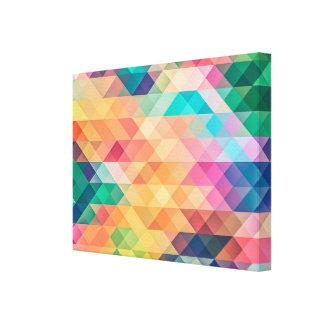 Impressão Em Tela Diamantes psicadélicos e triângulos
