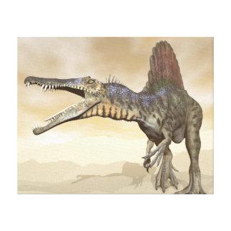 Impressão Em Tela Dinossauro de Spinosaurus no deserto - 3D rendem