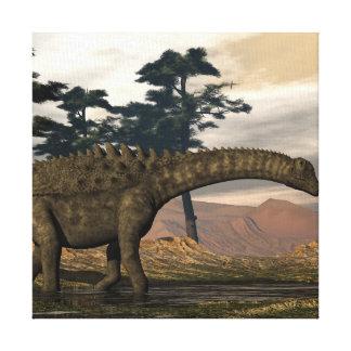Impressão Em Tela Dinossauro do Ampelosaurus