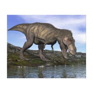 Impressão Em Tela Dinossauro do rex do tiranossauro - 3D rendem
