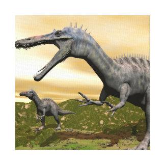 Impressão Em Tela Dinossauros de Suchomimus - 3D rendem