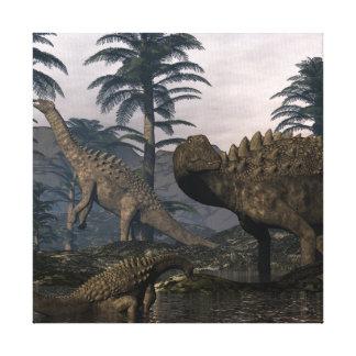 Impressão Em Tela Dinossauros do Ampelosaurus