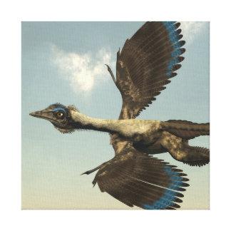 Impressão Em Tela Dinossauros dos pássaros do Archaeopteryx que voam