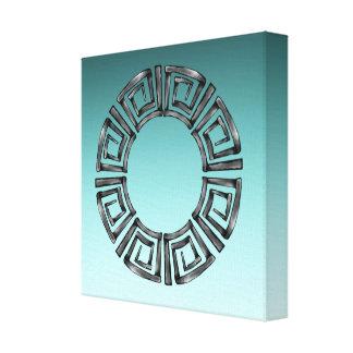 Impressão Em Tela Disco grego retro de pedra