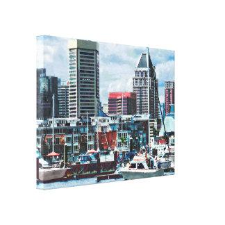 Impressão Em Tela DM de Baltimore - Skyline de Baltimore em Charles