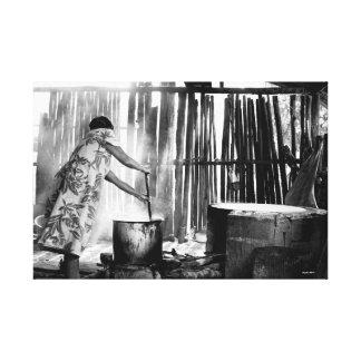 """Impressão Em Tela Do """"conuco"""" ao """"budare"""", comida nativa do Amazonas"""