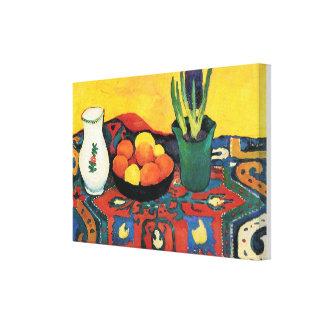 Impressão Em Tela Do vintage tapete August Macke do jacinto da vida