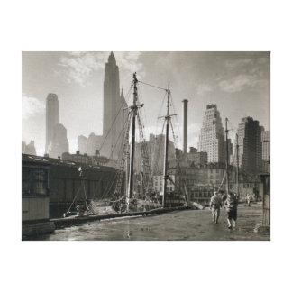 Impressão Em Tela Doca da rua de Fulton da Nova Iorque do vintage