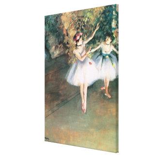 Impressão Em Tela Dois dançarinos em um palco por Edgar Degas, arte